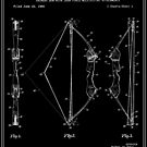 Archery Bow Patent - Black and White by FinlayMcNevin