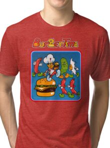 Burgertime Tri-blend T-Shirt