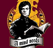 A Mind Needs Books (Gold II) by Inaco