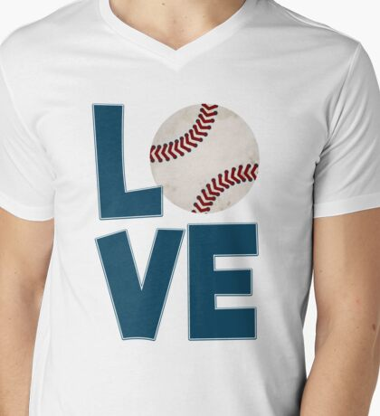 Baseball Kid Mens V-Neck T-Shirt