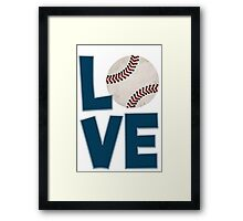 Baseball Kid Framed Print