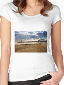 Eastbourne Pier Women's Fitted Scoop T-Shirt