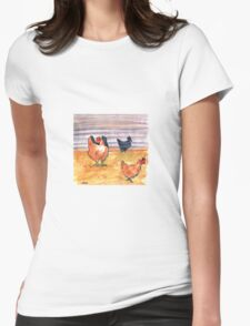 Rusty Chickens Womens Fitted T-Shirt