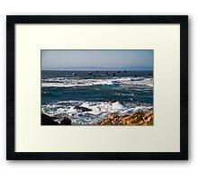 Cormorants on the Wing, Pebble Beach Framed Print