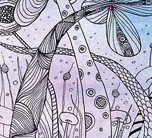 Zentangle Inspired On WaterColour by Lyweno