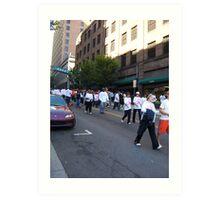 Walk for Breast Cancer Art Print
