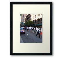 Walk for Breast Cancer Framed Print