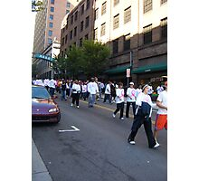 Walk for Breast Cancer Photographic Print