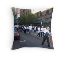 Walk for Breast Cancer Throw Pillow