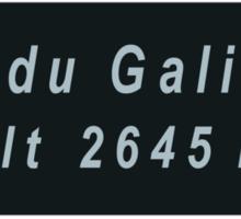 Col du Galibier Road Sign Replica Design Sticker