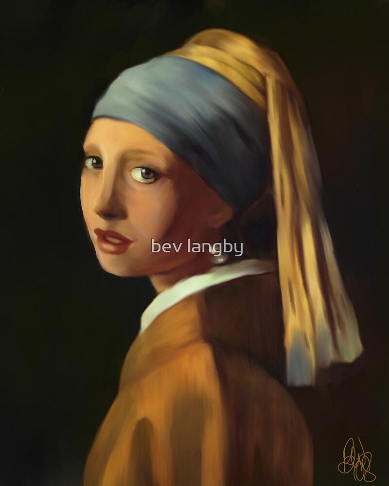 Pearl Earring my way by bev langby