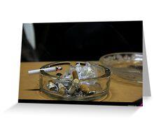 ashtray Greeting Card