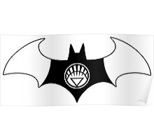 White Lantern Batman Poster