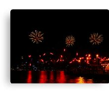 Reds and Golds  - Perth Skyworks 2009 Canvas Print