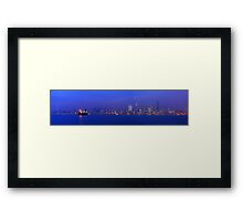 The View From Alki Point. Seattle, Washington.  Framed Print