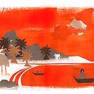 Orange Afternoon Ebb by mikeyfreedom