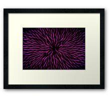 Pink Fire Flower Abstract Framed Print