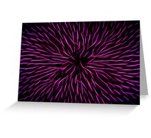 Pink Fire Flower Abstract Greeting Card