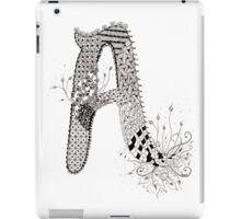 "Zentangle Inspired Letter ""A"" Hand Drawn iPad Case/Skin"