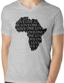AFRICA ONE LOVE Mens V-Neck T-Shirt