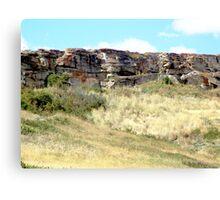 The Buffalo Jump Cliffs Canvas Print