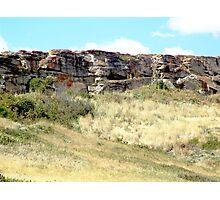 The Buffalo Jump Cliffs Photographic Print