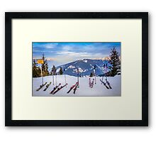 Skis Framed Print