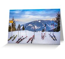 Skis Greeting Card