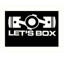 Lets Box - Subaru Boxer engine (Black) Art Print