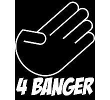 4 Banger Decal (Black) Photographic Print