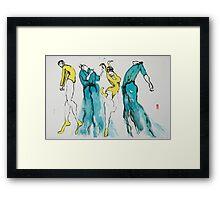 4 Dancers Framed Print
