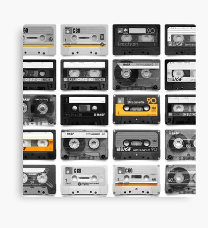 RETRO MUSIC CASETTES Canvas Print