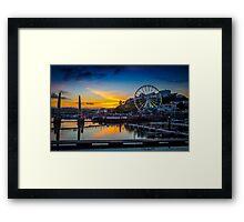 Torquay Marina Sunset Framed Print