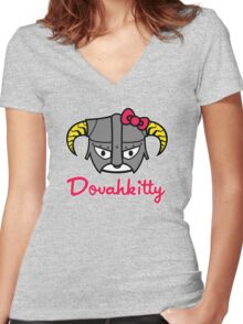 Dovahkitty Women's Fitted V-Neck T-Shirt