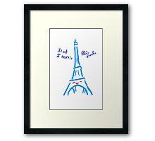 Eiffel's Adorable Tower Framed Print