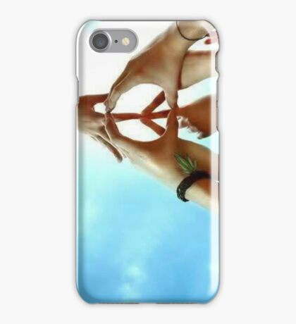 Peace Is Created Through Various Hands Joining Together iPhone Case/Skin