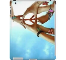 Peace Is Created Through Various Hands Joining Together iPad Case/Skin