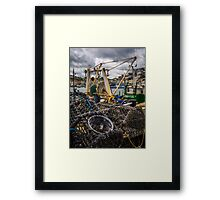 Fishing Pots Framed Print