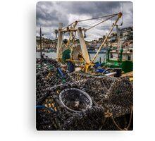 Fishing Pots Canvas Print