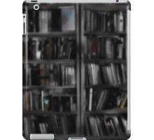 Black and White Book Shelves iPad Case/Skin