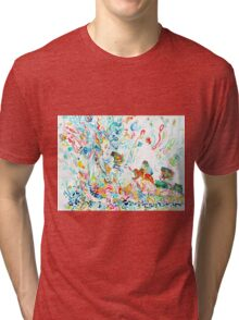 PSYCHEDELIC GODDESS WITH TOADS  Tri-blend T-Shirt