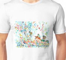 PSYCHEDELIC GODDESS WITH TOADS  Unisex T-Shirt