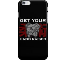 """Get Your Hand Raised"" - Jiu Jitsu Bulldog iPhone Case/Skin"