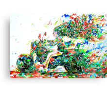MOTOR DEMON RUNNING FAST Canvas Print
