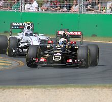 Romain Grosjean  & Valtteri Bottas by Stuart Daddow Photography