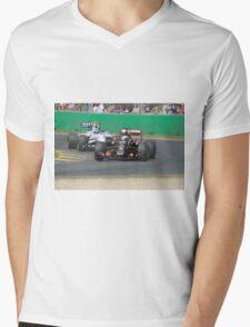 Romain Grosjean  & Valtteri Bottas Mens V-Neck T-Shirt