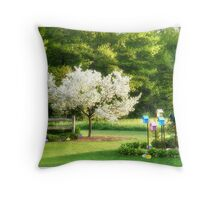 The Easter Egg Hunt Throw Pillow