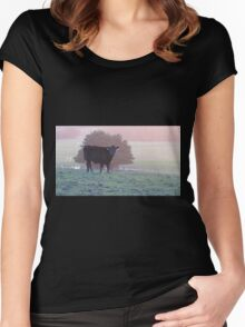 Colourful cow at Cape Liptrap Women's Fitted Scoop T-Shirt