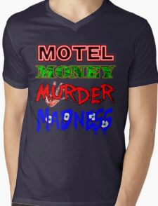 The Doors LA Woman Motel Money Murder Madness Design Mens V-Neck T-Shirt