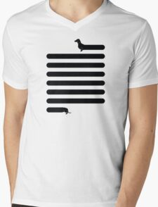 (Very) Long Dog Mens V-Neck T-Shirt